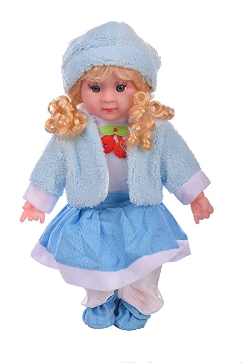 d78b63dcf Buy Zeyu Soft Girl Singing Songs Baby Doll Toy Musical Doll (Blue) Online  at Low Prices in India - Amazon.in