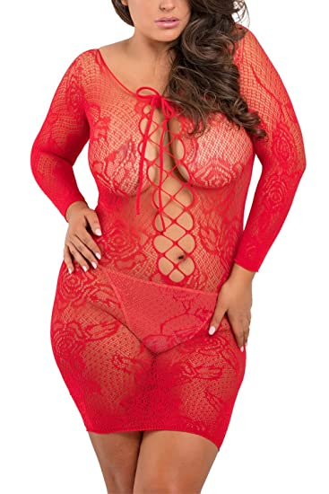 c99eeb07c0e Image Unavailable. Image not available for. Color: Rene Rofe Tie Breaker Long  Sleeve Dress Red 1x