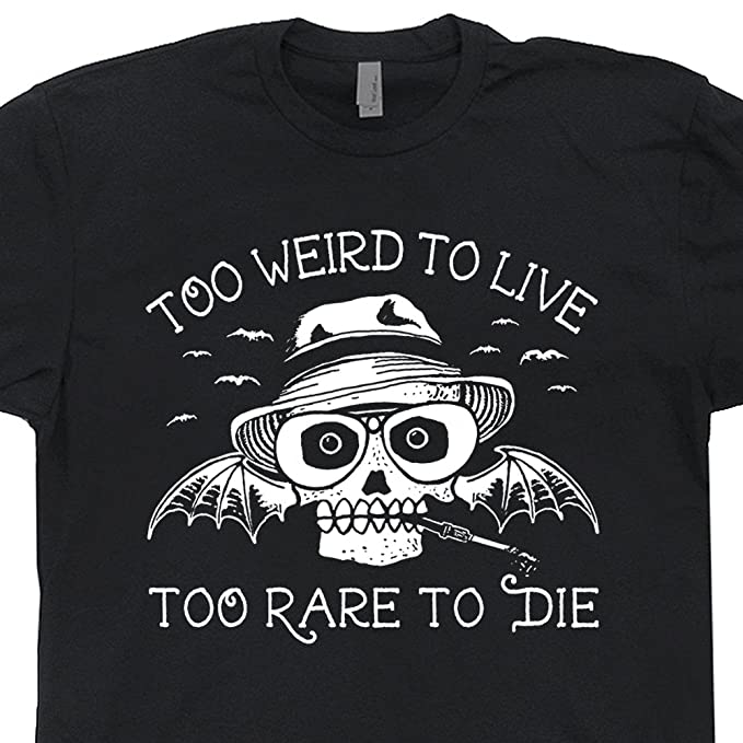 065d42e1264 S - Hunter S Thompson T Shirt Fear and Loathing In Las Vegas Tee Too Weird