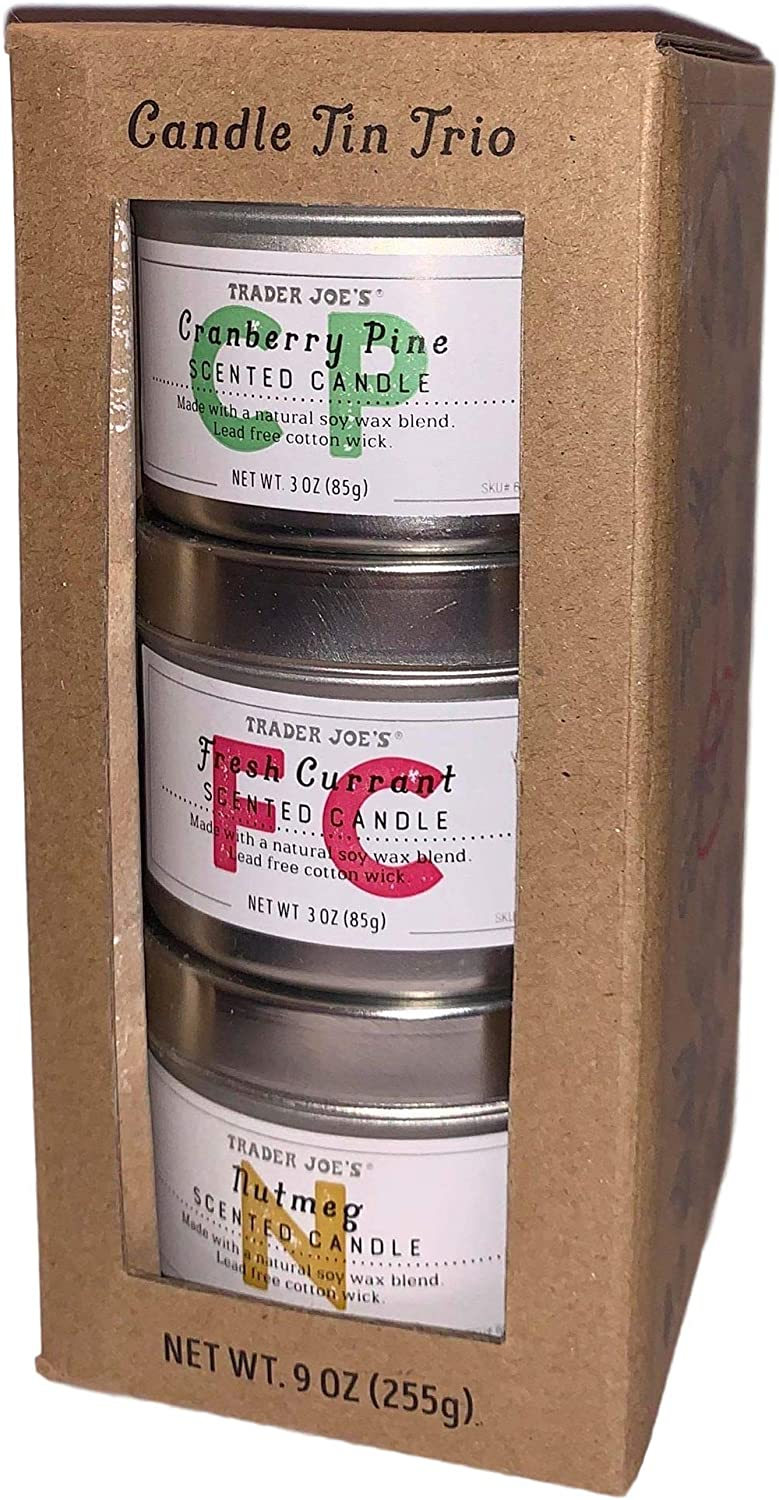 Trader Joe/'s Scented Candles Peony Blossom Soy Coconut Wax 1 2 or 4 Pack!
