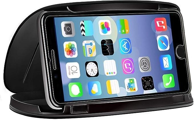 Imagen deSoporte Móvil Coche, Soporte del Coche Móvil Universal para Salpicadero con, Soporte para Teléfono del Instrumentos del Coche Compatible para Samsung S9 Plus S9 S8 Nota 8 iPhone 8 X XR XS XS MAX