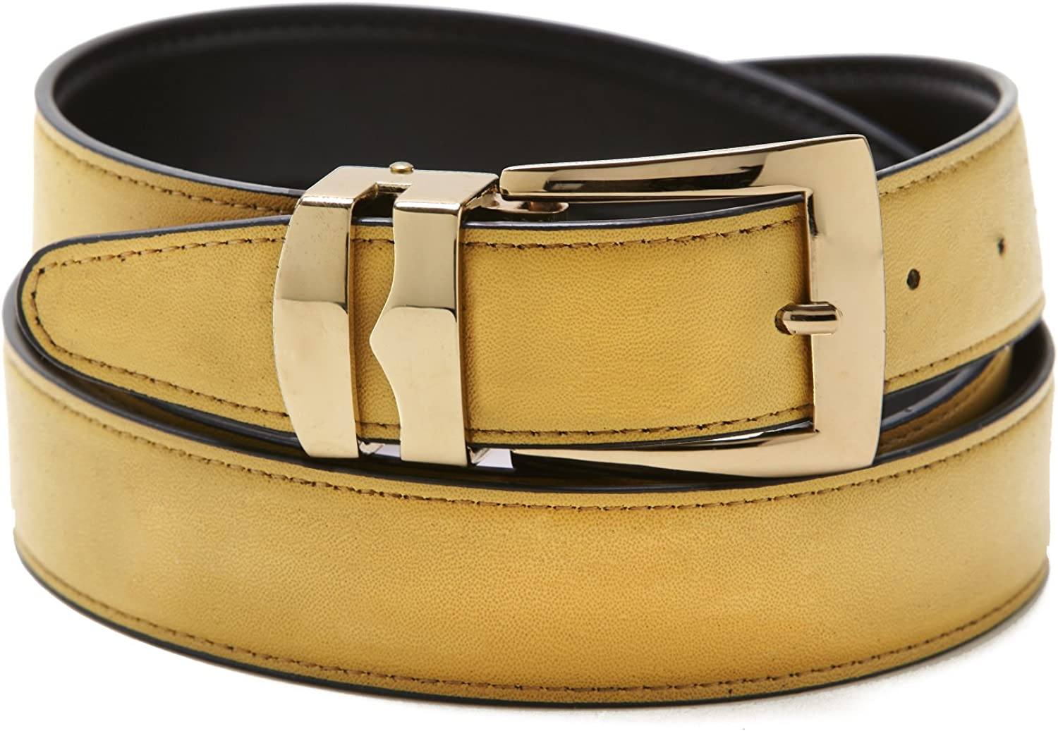 Reversible Belt Bonded Leather with Removable Gold-Tone Buckle GOLD//Black