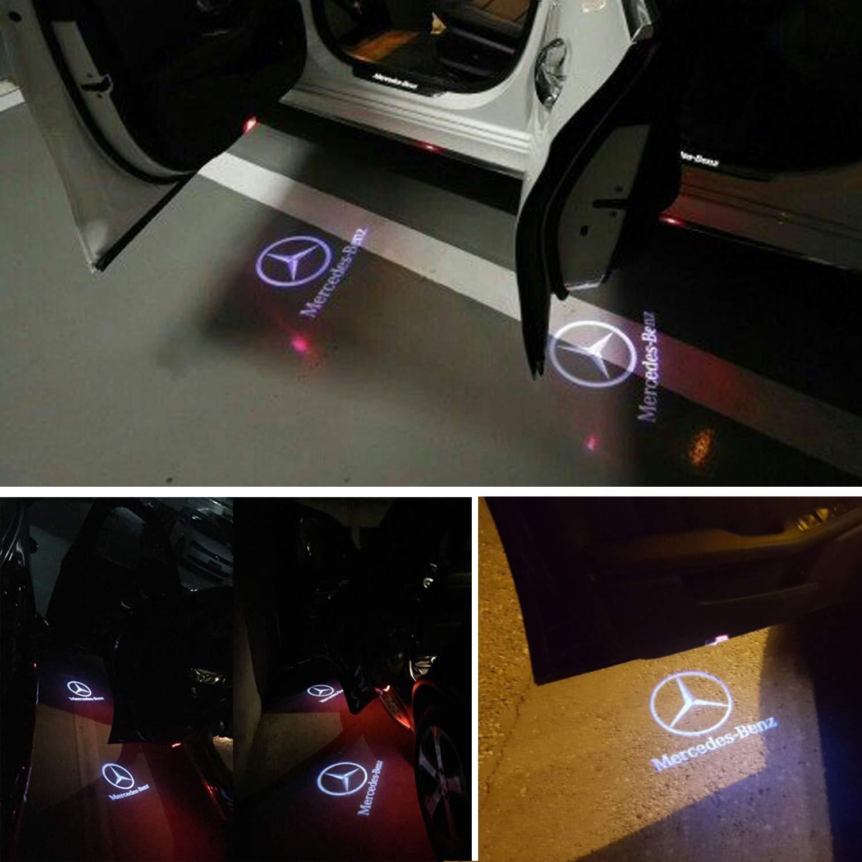 4 St/ück Auto LOGO Projektor LED T/ürlicht Willkommen Licht T/ürbeleuchtung