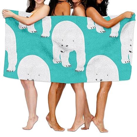 Toallas de baño, diseño de osos polares Super suave ultra absorbente toalla de baño para