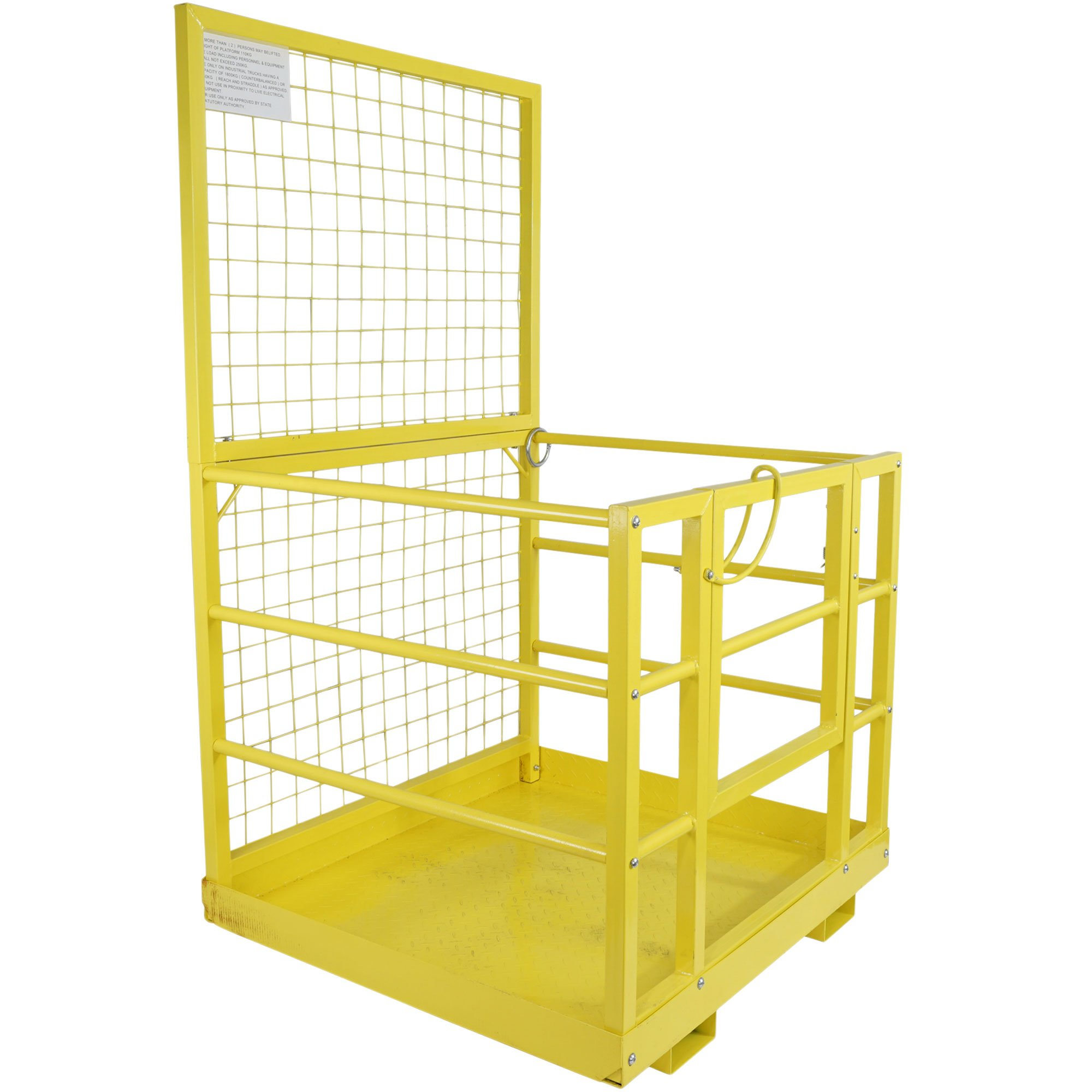 Forklift Safety Cage Work Platform Lift Basket Aerial Fence Rails Yellow 2 man by Titan Attachments (Image #7)