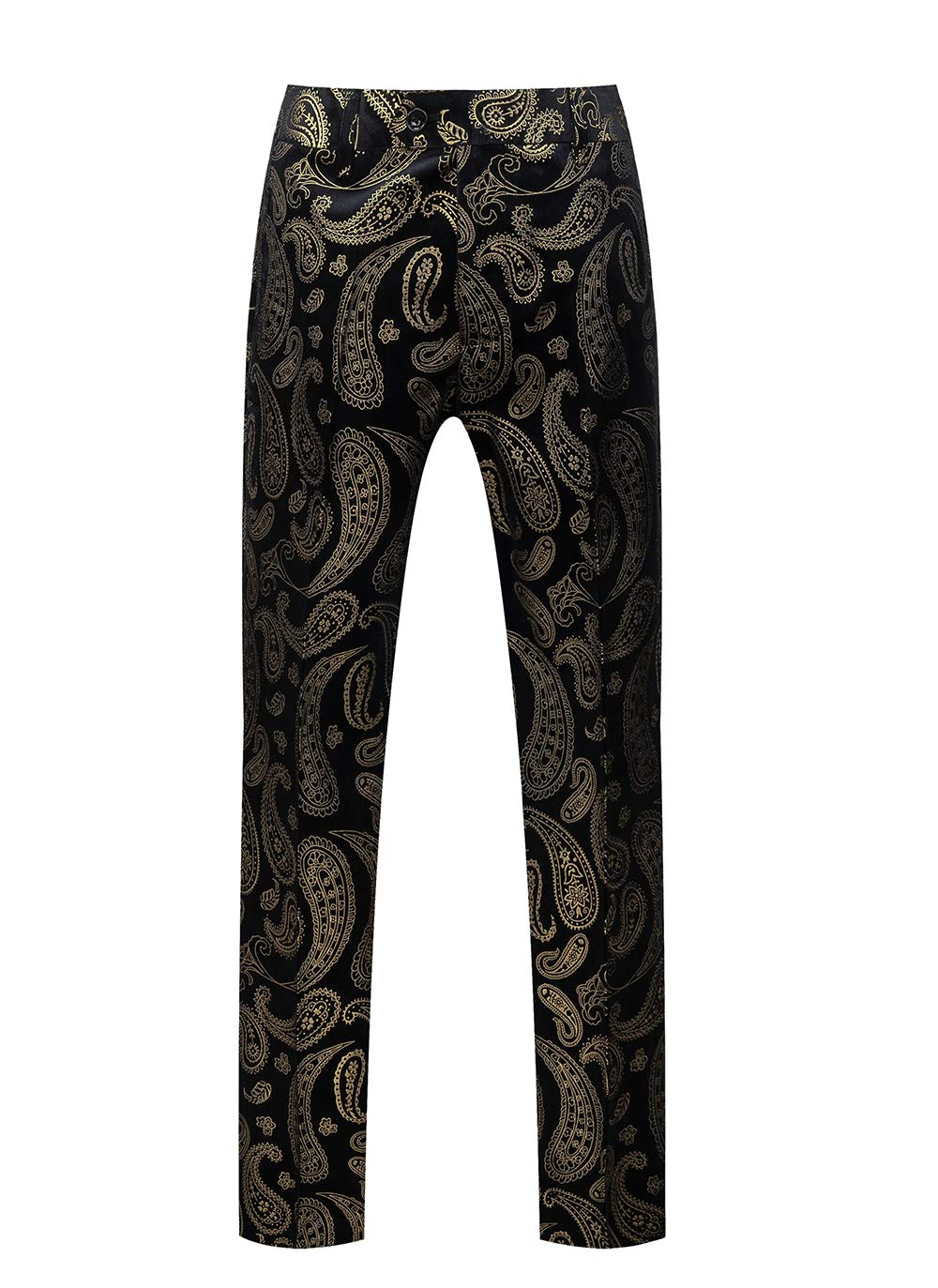 Mens Slim Fit Floral Casual Stretch Suit Pants Party Prom US 33 (Label Size XL) Printed by UNINUKOO