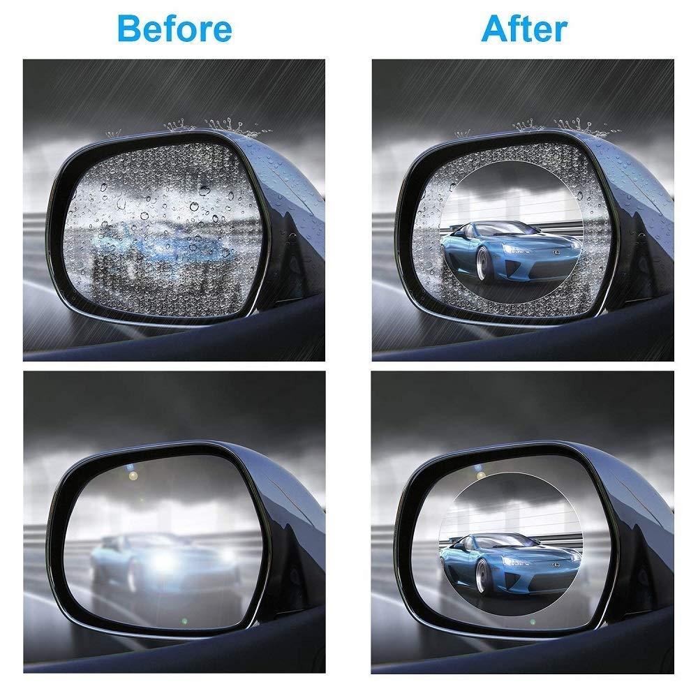 2 St/ücke Auto R/ückspiegel Folie Seitenfenster Film HD Wasserdichte Anti-Fog Anti-Scraping R/ückspiegel Nano Film f/ür Auto Corola Levin Vios Yaris