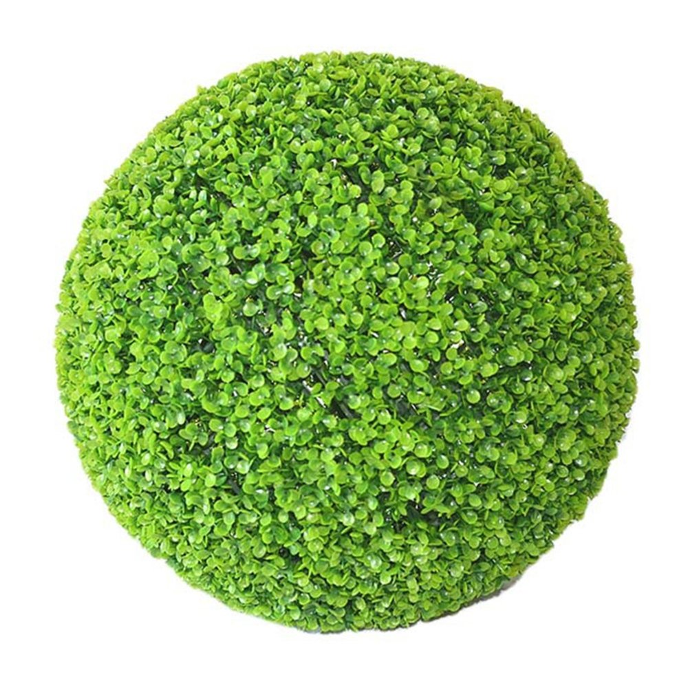 Yunhigh Boxwood Topiary Ball Artificial Plant Ball Decorative Simulation Grass Ball Green Indoor Outdoor Centerpiece for Wedding Christmas Home Decor(2pcs, 17cm)