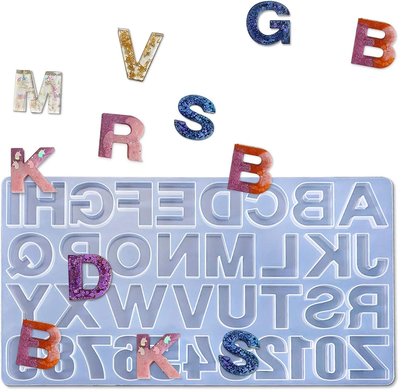Molde de silicona con letras para bricolaje