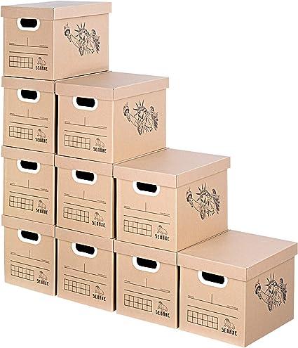 SEMAXE cajas de almacenamiento, cajas de cartón, 10 unidades, 14 x ...