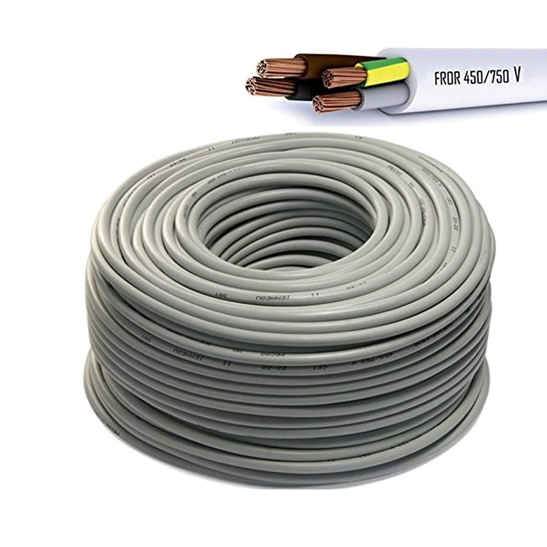 CAVO ELETTRICO MULTIPOLARE PVC NERO 3G1 TRIPOLARE PREZZO PER 1 METRO 3X1