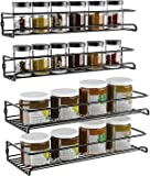 COSANSYS Spice Rack Organiser - 4 Pack 2 Size Hanging Wall Metal Spice Holder Kitchen Shelf without Drilling - Self…