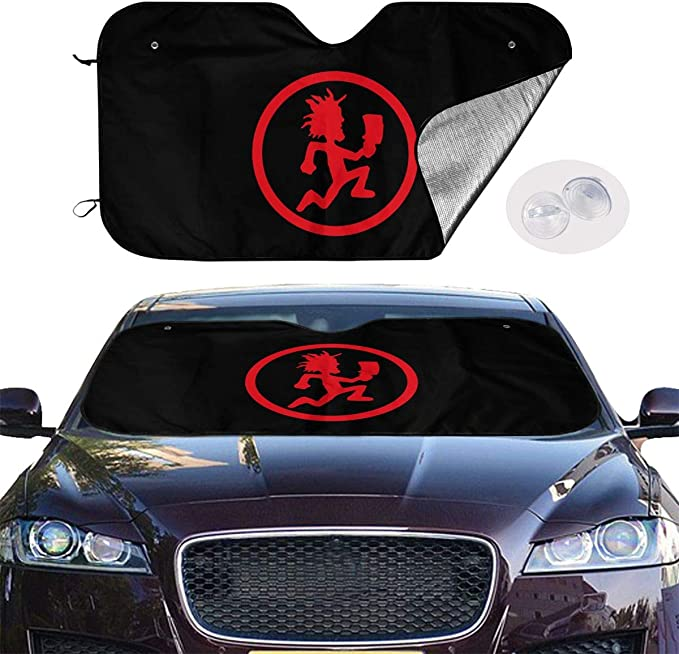 Bargburm Minions Car Front Window Sun Shade Universal Size Fit 51 X 27.5 Windshield Sunshade Interior Accessories Keep Your Vehicle Cool