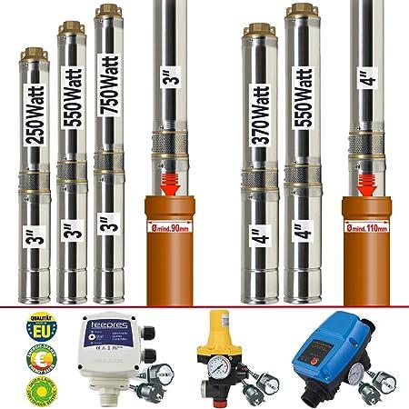 4 Zoll Brunnenpumpe Tiefbrunnenpumpe Tauchpumpe Gartenpumpe Pumpe Druckschalter