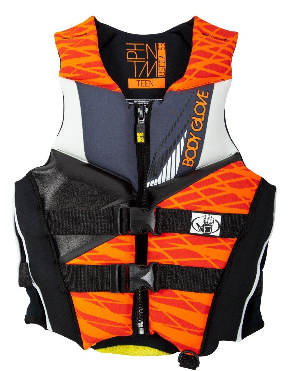 Body Glove Wetsuit Co Men's Phantom Neoprene US Coast Guard Approved PFD Life Jacket, Orange/Black, Medium by Body Glove Wetsuit Co B01H2P4CPO