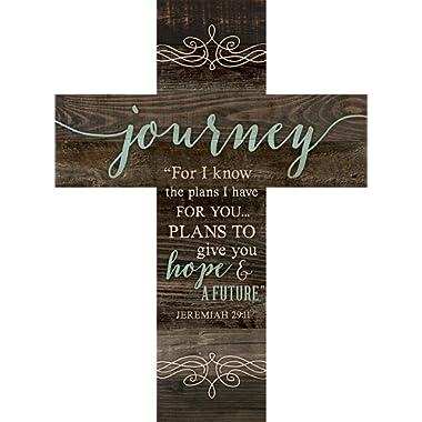 P. GRAHAM DUNN Journey Jeremiah 29:11 Rustic Dark 14 x 10 Wood Wall Art Cross Plaque