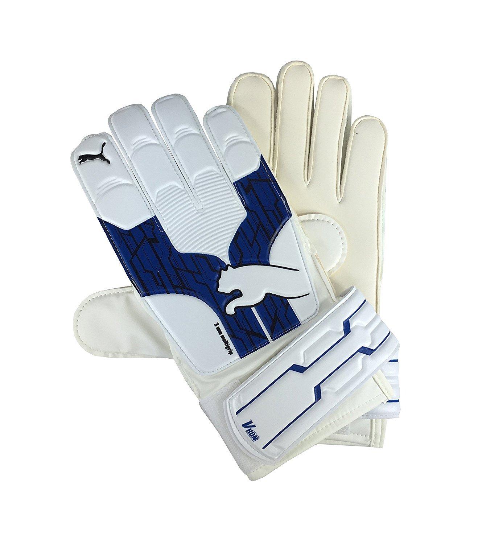 Puma Herren v-kon RC Torwarthandschuhe Weiß mit Navy Blau für Fußball