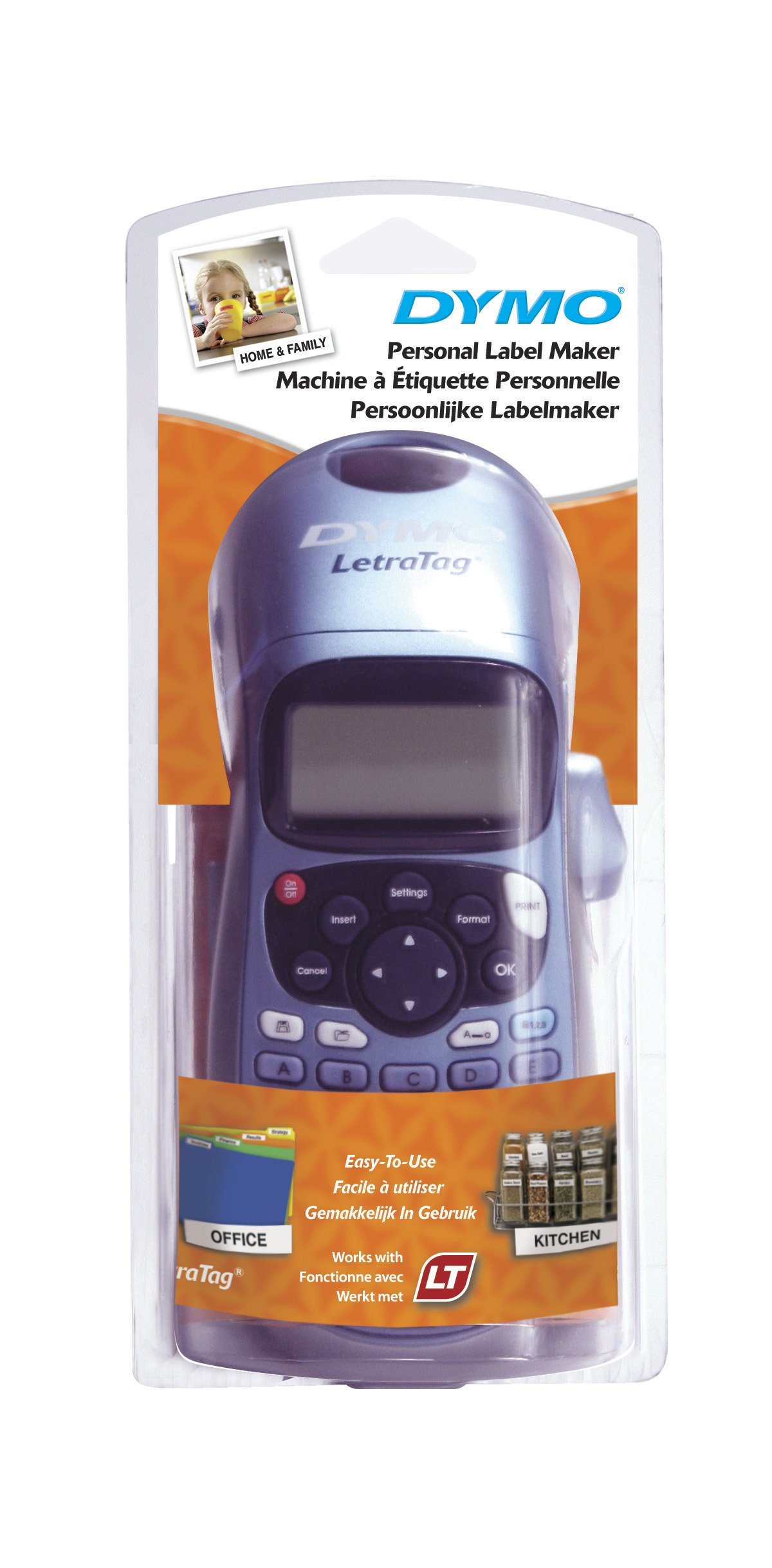 Dymo LetraTag LT-100H - Impresora de etiquetas, color azul (versión extranjera)