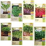 Kit com 8 Pacotes de Sementes de Microverdes variados