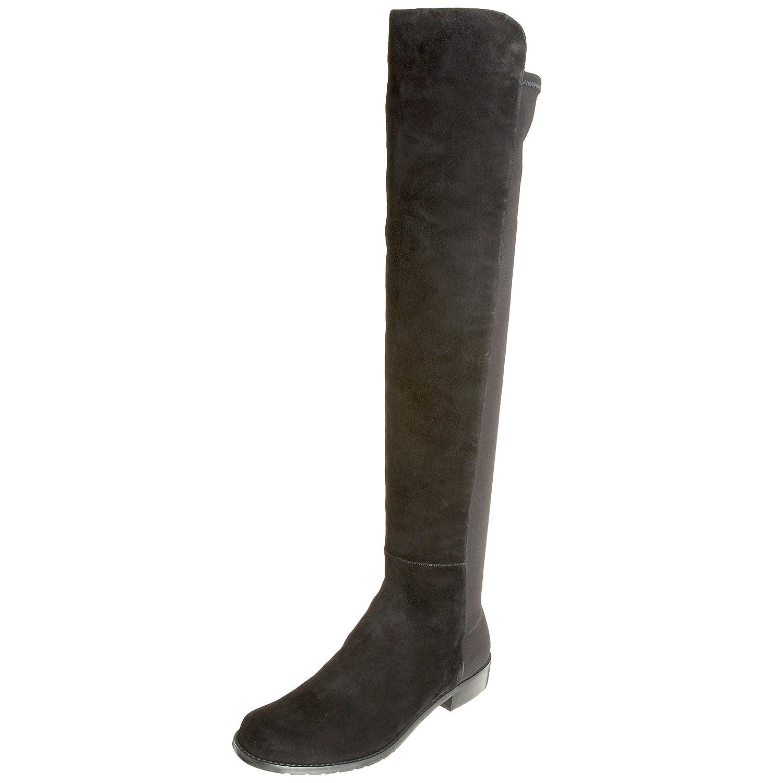 Black Suede Stuart Weitzman Women's 5050 Over-The-Knee Boot
