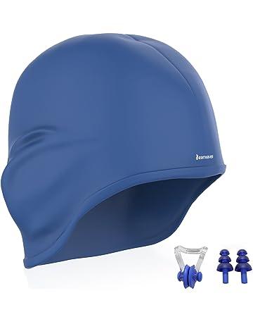 Earwaves - Gorro de natación con protección para Orejas. Gorro de Piscina para Hombre y