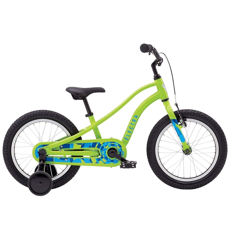 Electra Sprocket 1 Kinder Fahrrad Jungen 16 Zoll 5-6 Jahre Stützräder Kids Beachcruiser Camouflage, 56495, Farbe Slime Grün - Grün