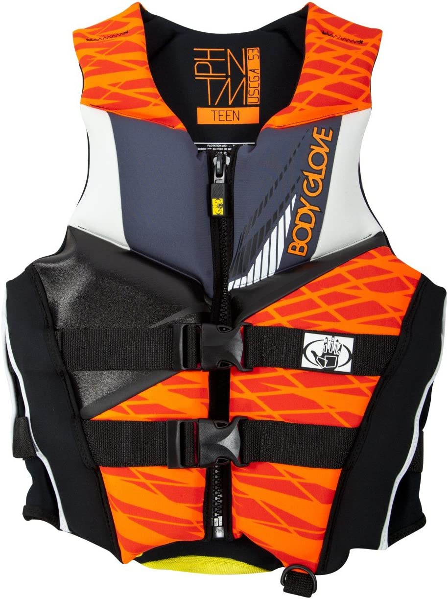 Body Glove Wetsuit Co Men's Phantom Neoprene US Coast Guard Approved PFD Life Jacket, オレンジ/黒, Medium by Body Glove Wetsuit Co