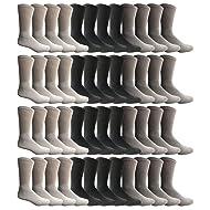 SOCKS'NBULK 60 Pairs Wholesale Bulk Sport Cotton Unisex Crew Socks, Ankle Socks, Value Deal