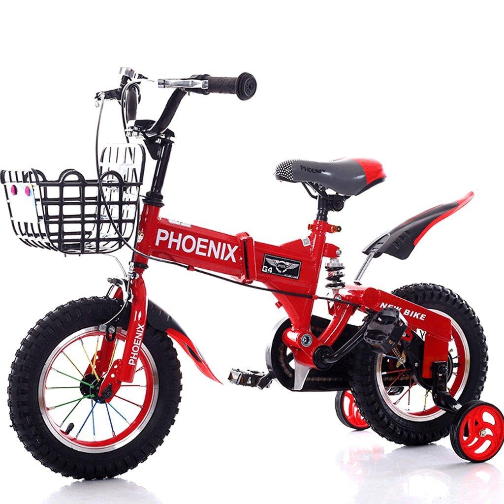 子供の自転車2-12歳の赤ん坊の子供の自転車の男性と女性のショックアブソーバーの赤ちゃんの車 (色 : 赤, サイズ さいず : 16 inches) B07D8R1NZG 16 inches|赤 赤 16 inches