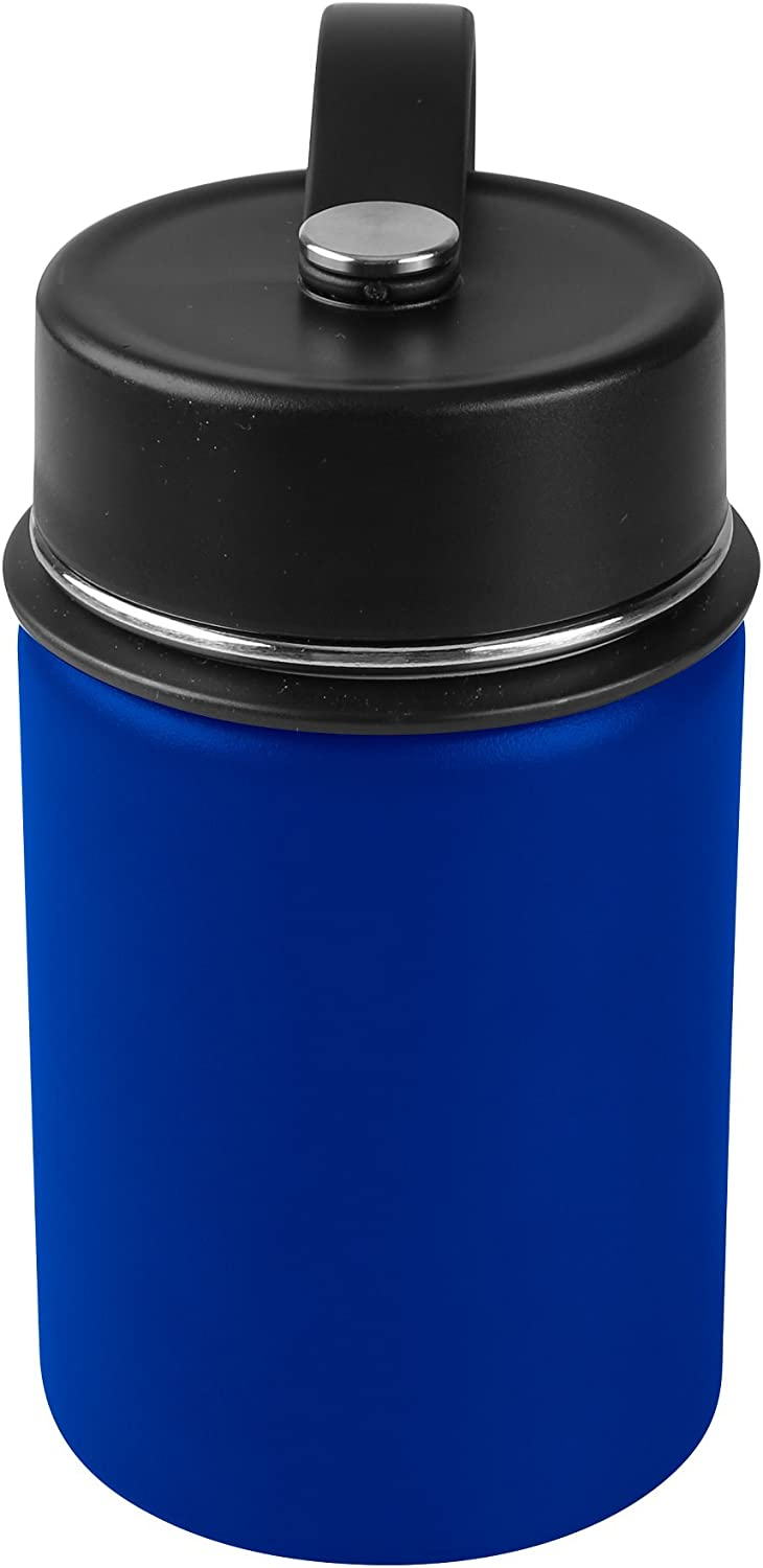 Tahoe Trails 12 oz Double Wall Vacuum Insulated Stainless Steel Water Bottle, Royal Blue