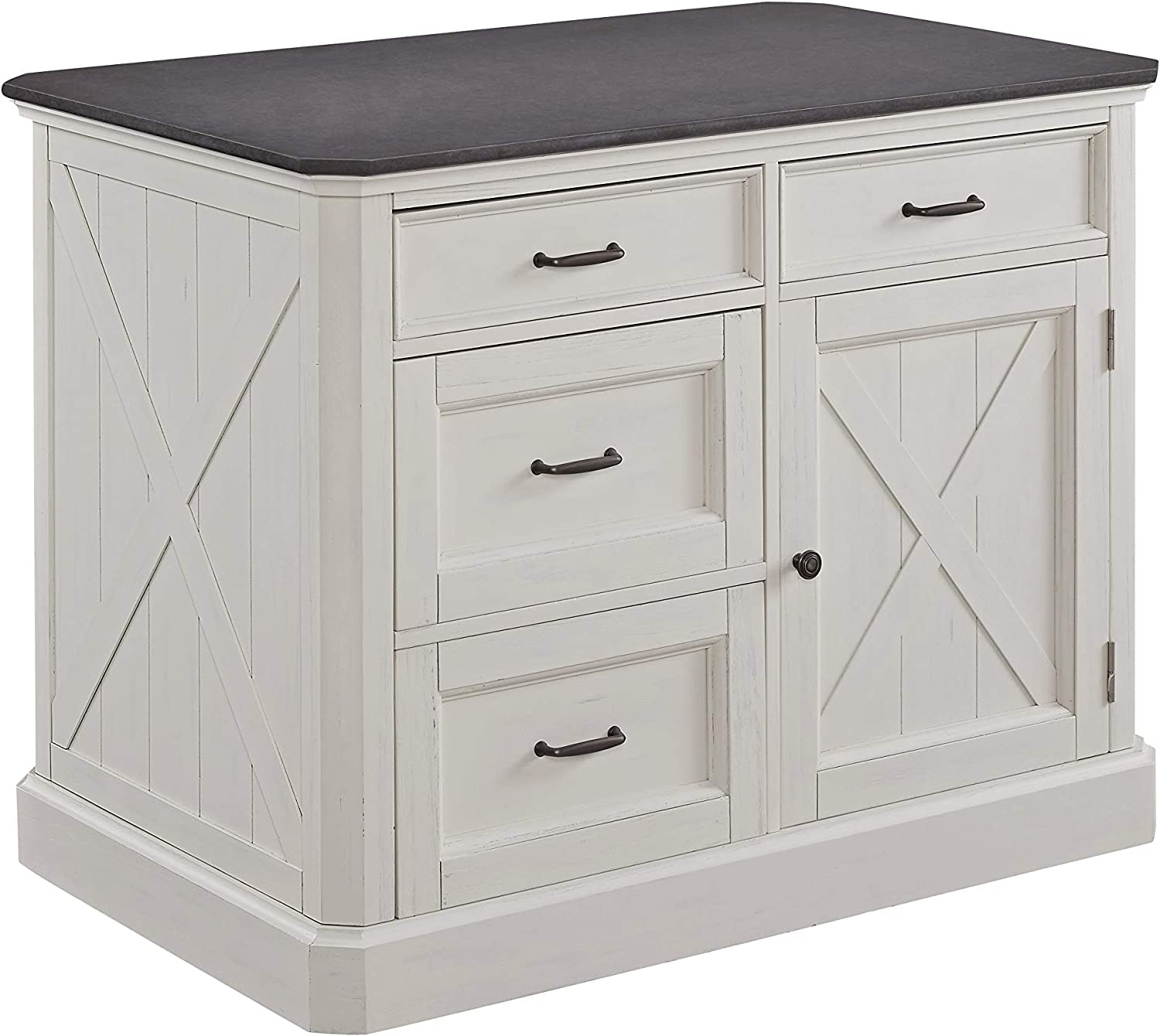 Seaside Lodge White Kitchen Island by Home Styles