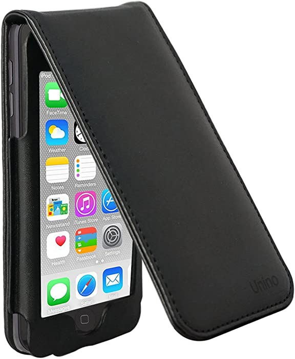 iPOD Touch 6th Generation Leather Flip Case with Removable Clip