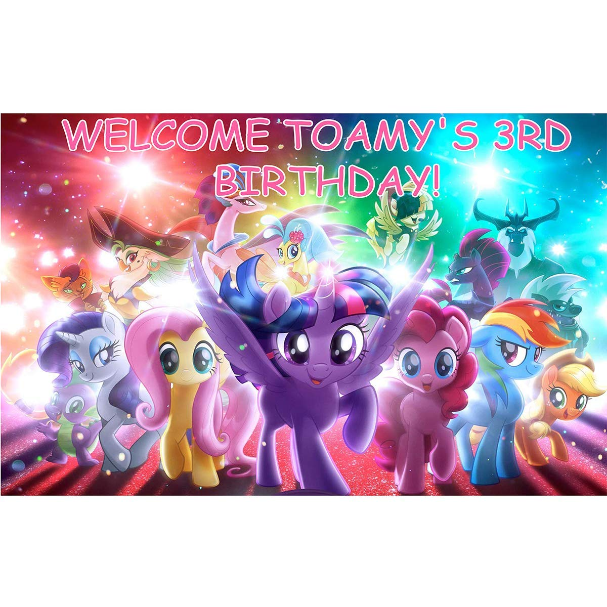 Num303 My Little Pony Party Decoration Supplies Backdrop Customized for Birthday Decor