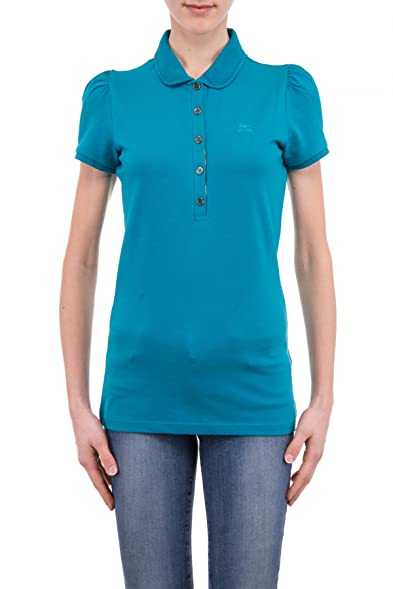 BURBERRY BRIT - Women's Polo YSM70254 - Blue (Hydrojen Blue), ...