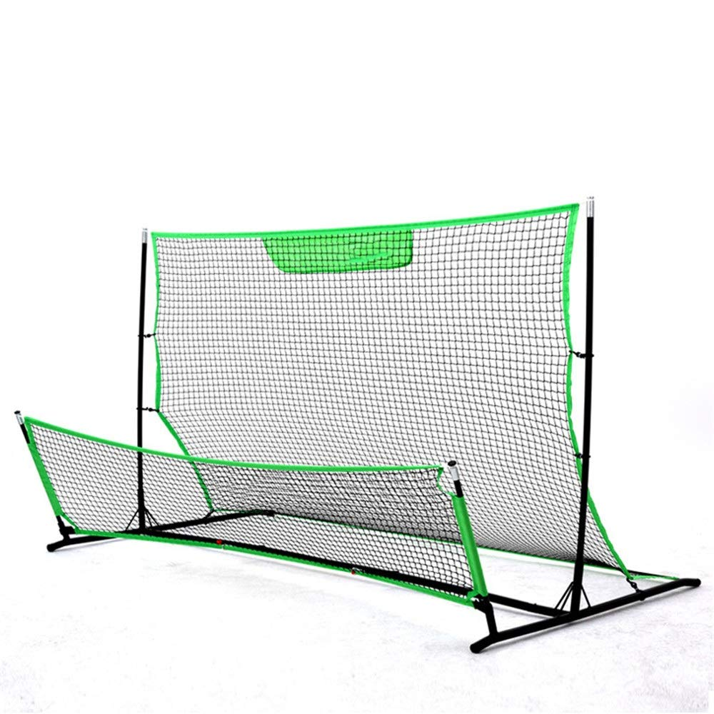 EODUDO-S Portable Soccer Goal Football Training Network High and Low Football Rebound Network Rebound Tennis Soccer Goal Training Equipment,More Styles (Color : C1, Size : 203117117cm) by EODUDO-S