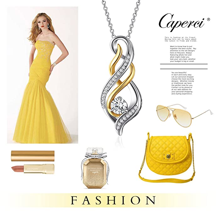 04795e195 Amazon.com: Caperci Sterling Silver Diamond Accent Twist MOM Flame Pendant  Necklace, Perfect Jewelry Gift for Mom: Jewelry