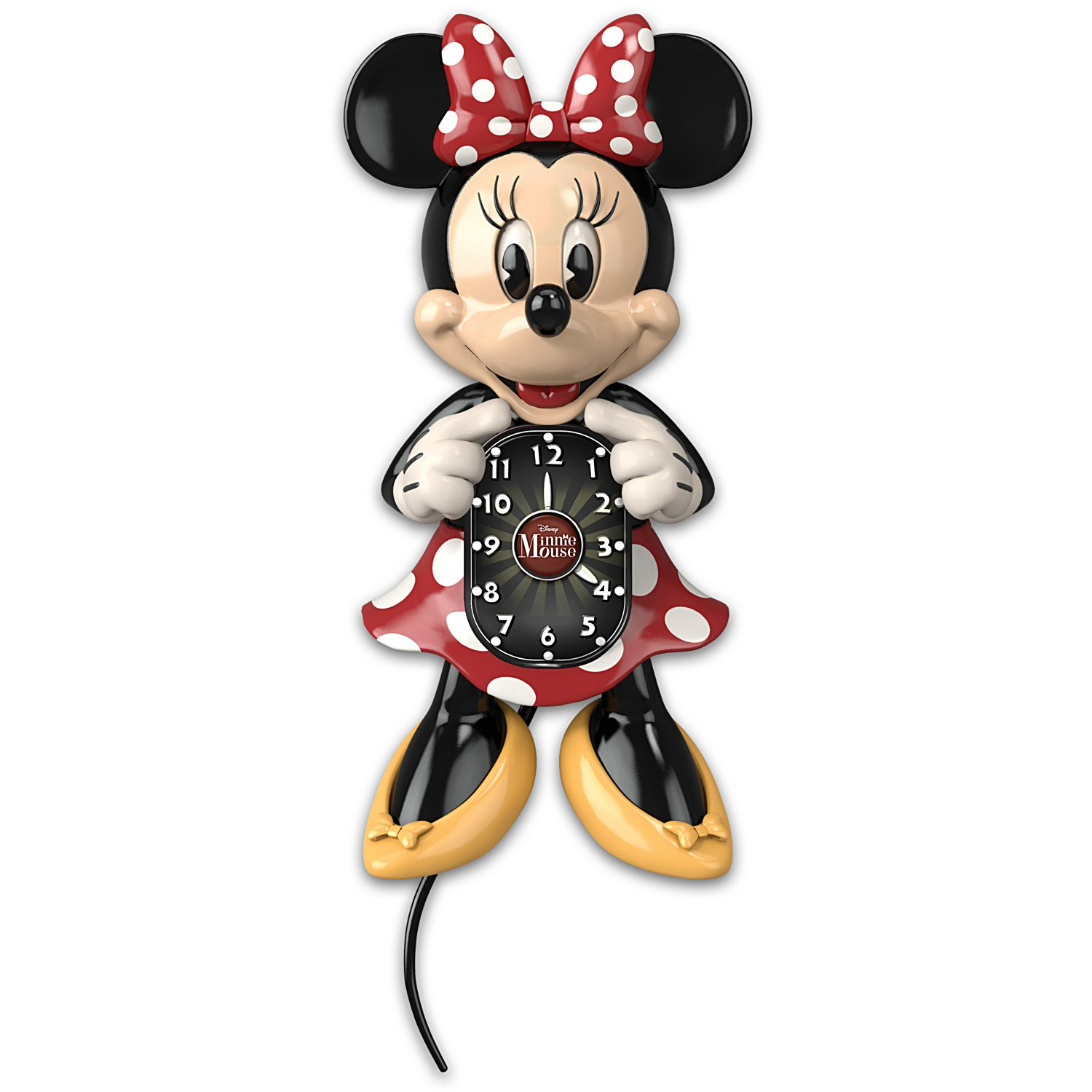 Disney Minnie Mouse Wall Clock with Moving Eyes and Tail by The Bradford Exchange
