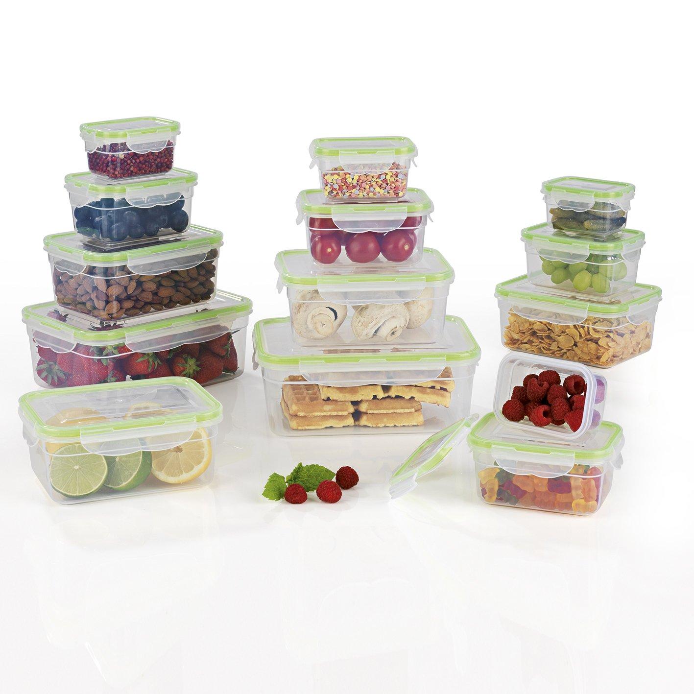 Gourmet Maxx 02824 Storage Boxes Click Storage Boxes | BPA Free | 28 Piece Microwave, Freezer and Dishwasher safe, BPA Free GOURMETmaxx