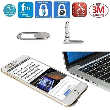 Mic Lock Sound Blocker Anti-escuchas | Protección de la cubierta de la cámara web