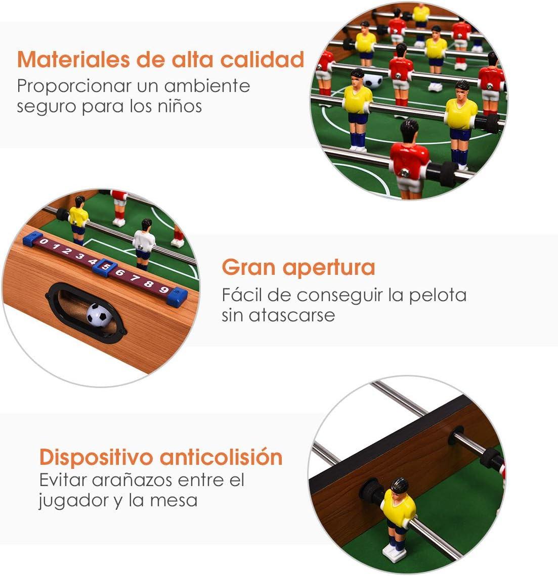 COSTWAY 2 en 1 Mesa Multijuegos Mesa de Futbolín y Hockey Juego de ...