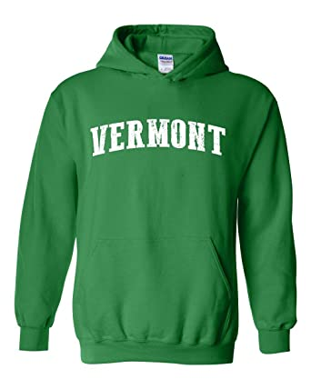 Ugo VT Vermont Flag Burlington Map Catamounts Home of University of Vermont Unisex Hoodie Sweatshirt