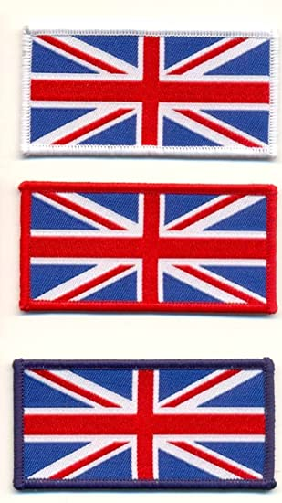 WOVEN UNION JACK IRON ON PATCH SMALL