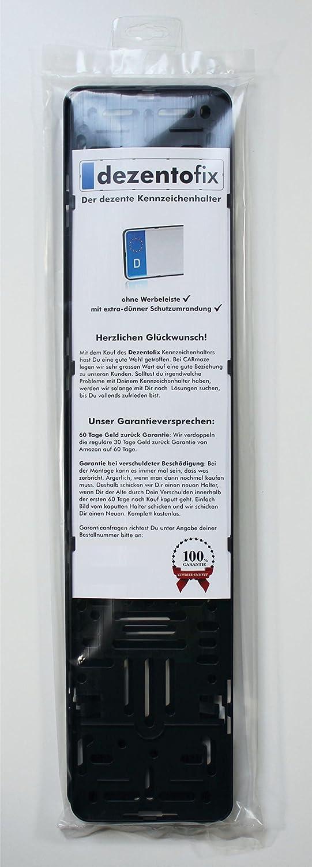 DEZENTOFIX Kennzeichenhalter (Standard-EU Grösse 52cm ...