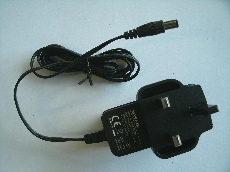 GENUINE VASATA P090060-2D1 AC//DC POWER SUPPLY ADAPTER 9V 0.6A UK PLUG