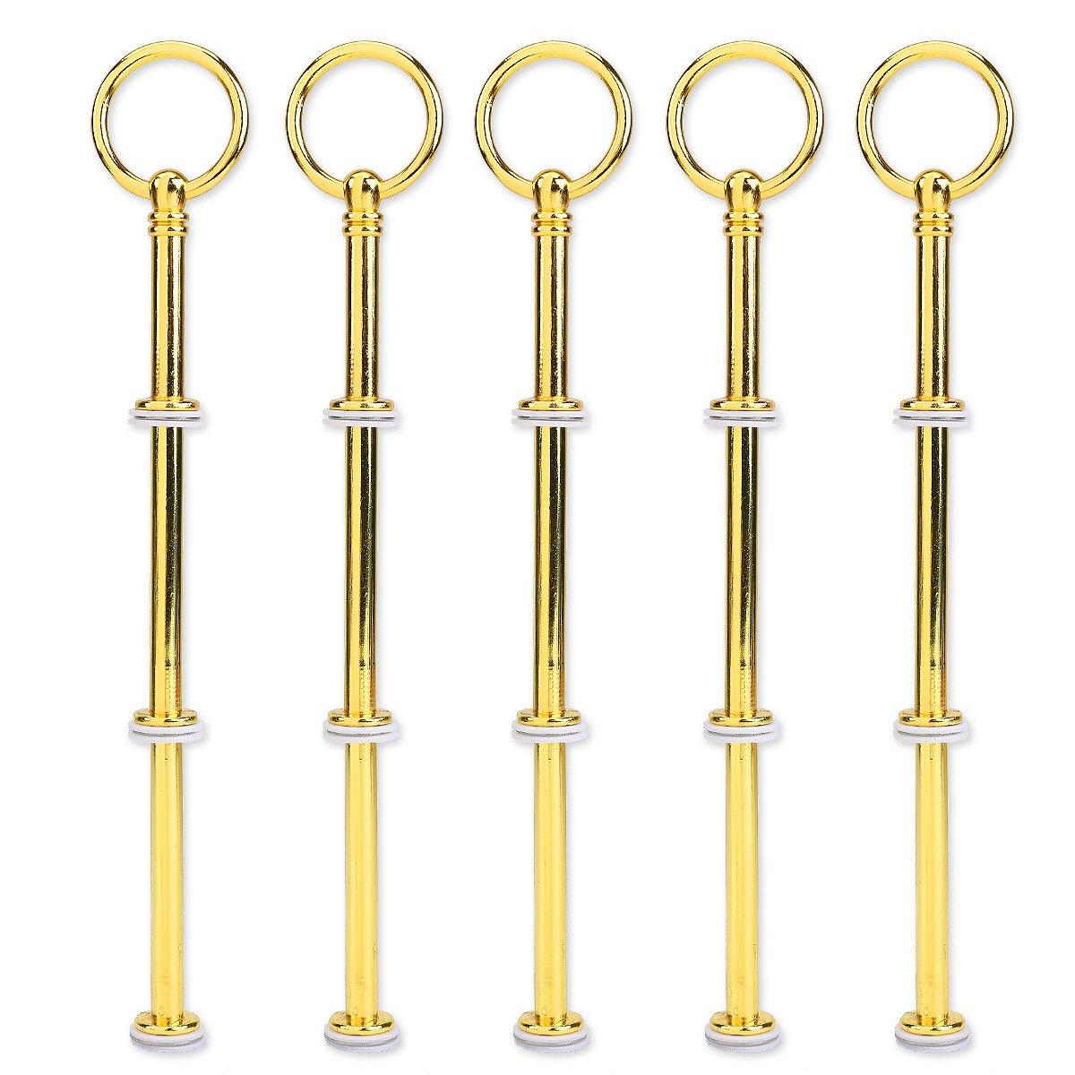 SurePromise One Stop Solution for Sourcing 5/Set Golden Couleur Rond Motifs Mini tiges en m/étal 2//à 3//étage pr/ésentoir pour g/âteau de Mariage Pr/ésentoir Support G/âteau G/âteaux