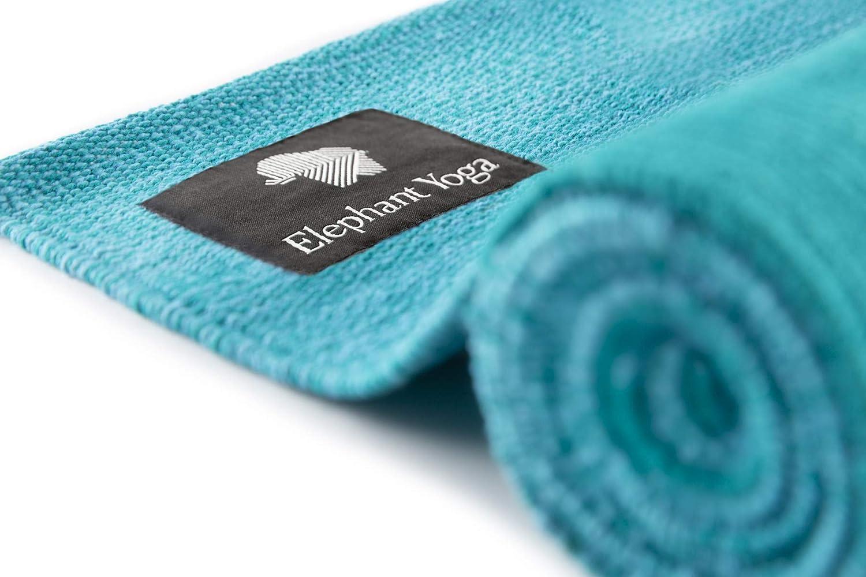 Handwoven and Eco Friendly Elephant Yoga Organic Cotton Yoga Rug Ideal for Ashtanga Mysore Hot Yoga Pilates Power Yoga