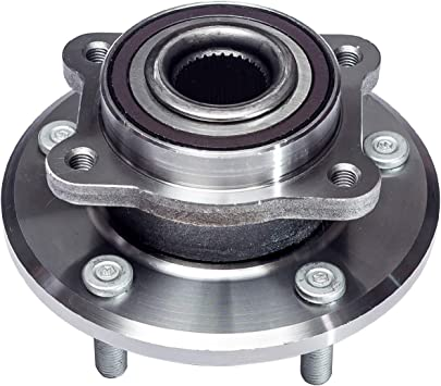 Front Wheel Hub and Bearing Assembly Compatible With 2009 10 11 12 13 14 15 16 2017 Dodge Journey AUQDD 513286 x2 5 Lug Hub Pair