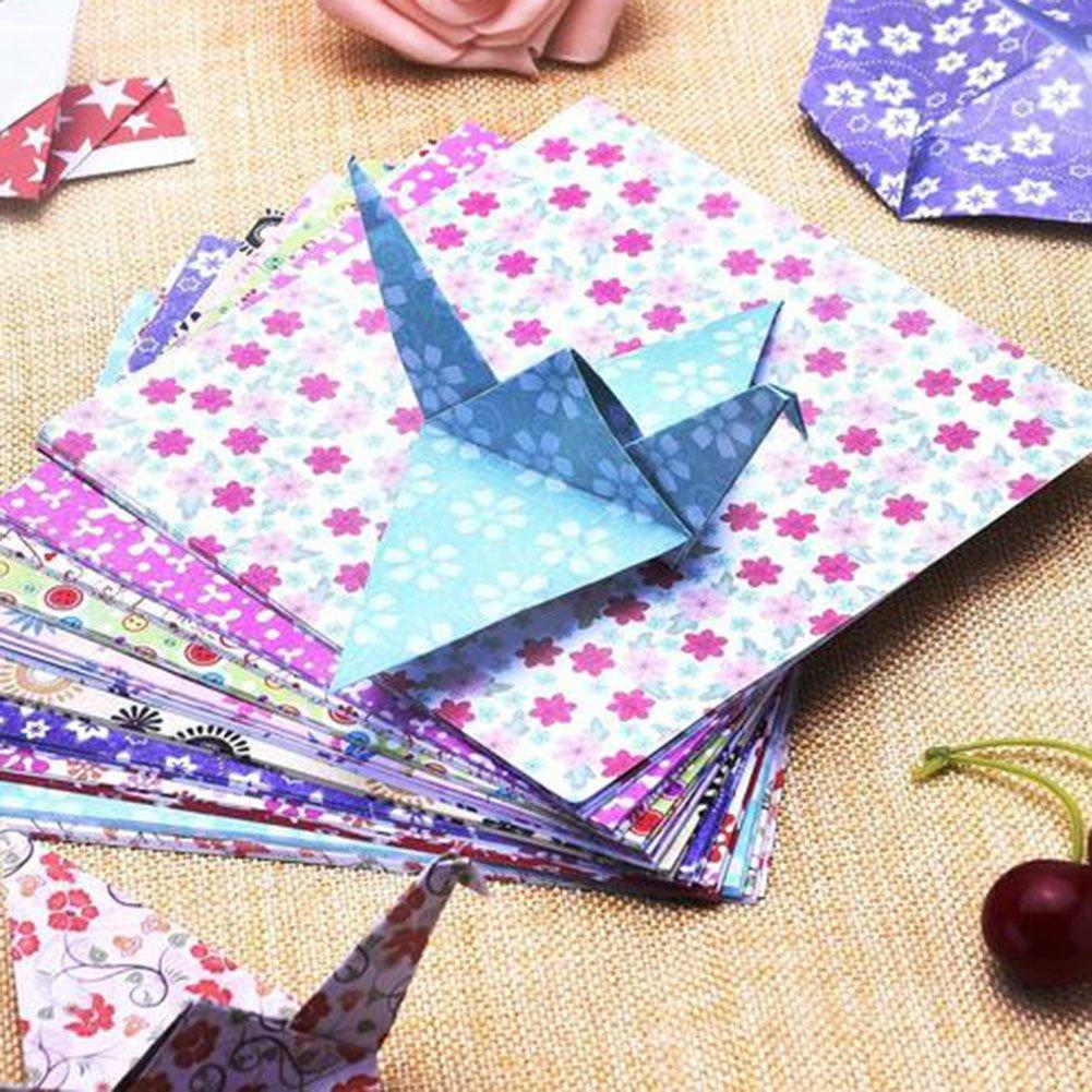 50/Farben 15/x 15/cm 15*15cm colorful#1 Papier lumanuby 50/Blatt//Set Origami-Papier Color Printing Origami handgefertigt Paper Cut Kinder DIY Farbe Papier