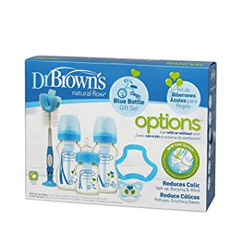 Amazon.com : Babyprice Blue Dr Browns Natural Flow Gift Set ...
