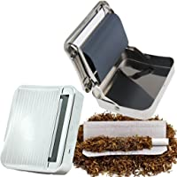 METAL TOBACCO CIGARETTE ROLLING MACHINE AUTOMATIC ROLLER BOX TIN HOLDER ROLL UPS